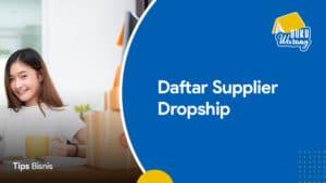 Daftar Supplier Dropship