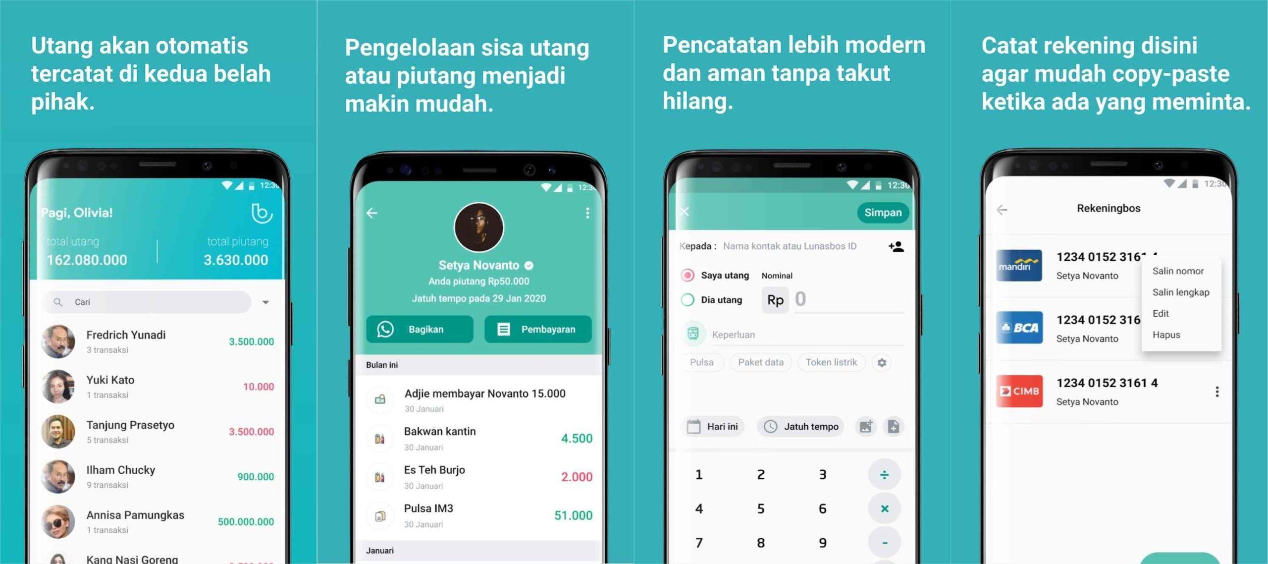 aplikasi pengatur keuangan lunasbos
