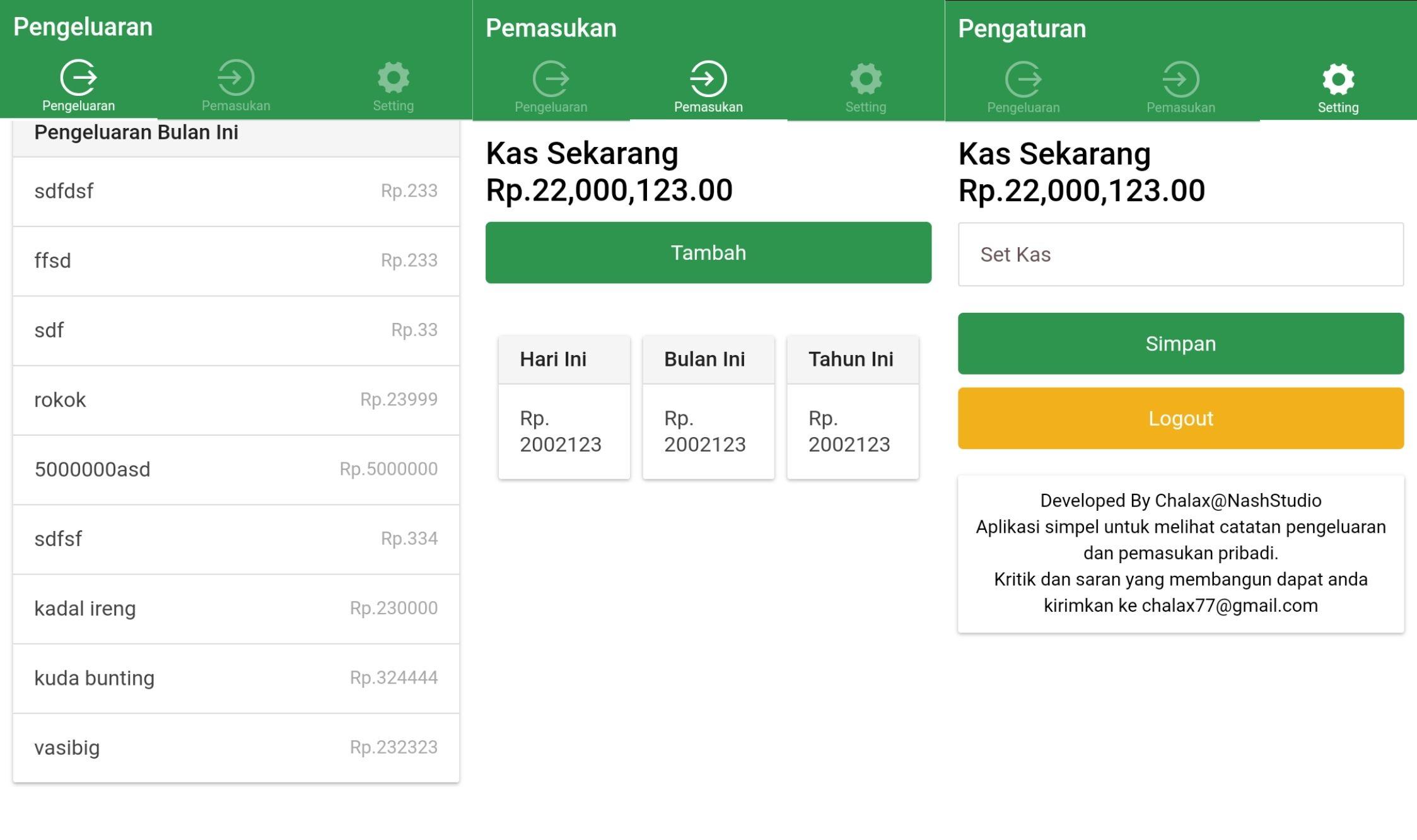 aplikasi pengatur keuangan uangku